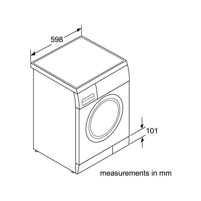Bosch WAP28378GB Serie 6 Maxx EcoSilence 8kg 1400rpm