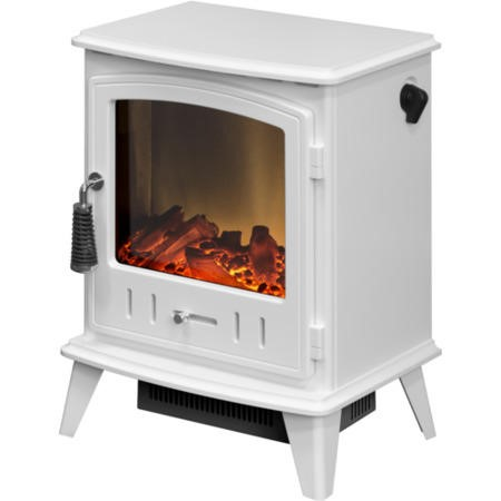 Adam Aviemore Pure White Electric Stove Fire with Log Effect Fuel Bed