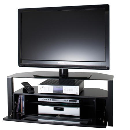 Alphason ABRD1100-BK Ambri Black TV Cabinet - Up To 50 Inch