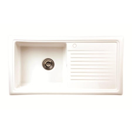 Reginox RL304CW 1.0 Bowl Reversible Inset Ceramic Kitchen Sink White