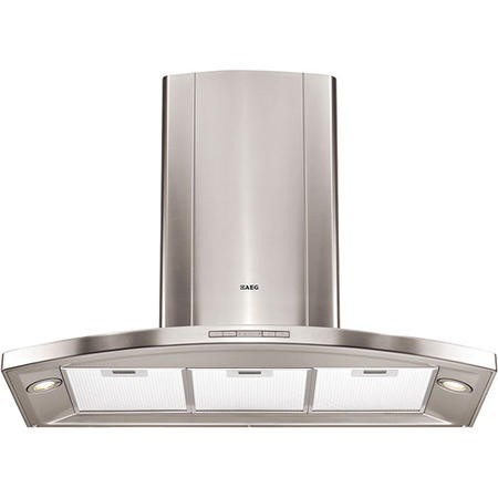 AEG HC5690-M Designer Curved 90cm Chimney Hood - Stainless Steel