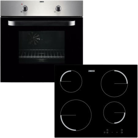 Zanussi ZPVF4130X Electric Fan Oven And Ceramic Hob Pack Stainless Steel
