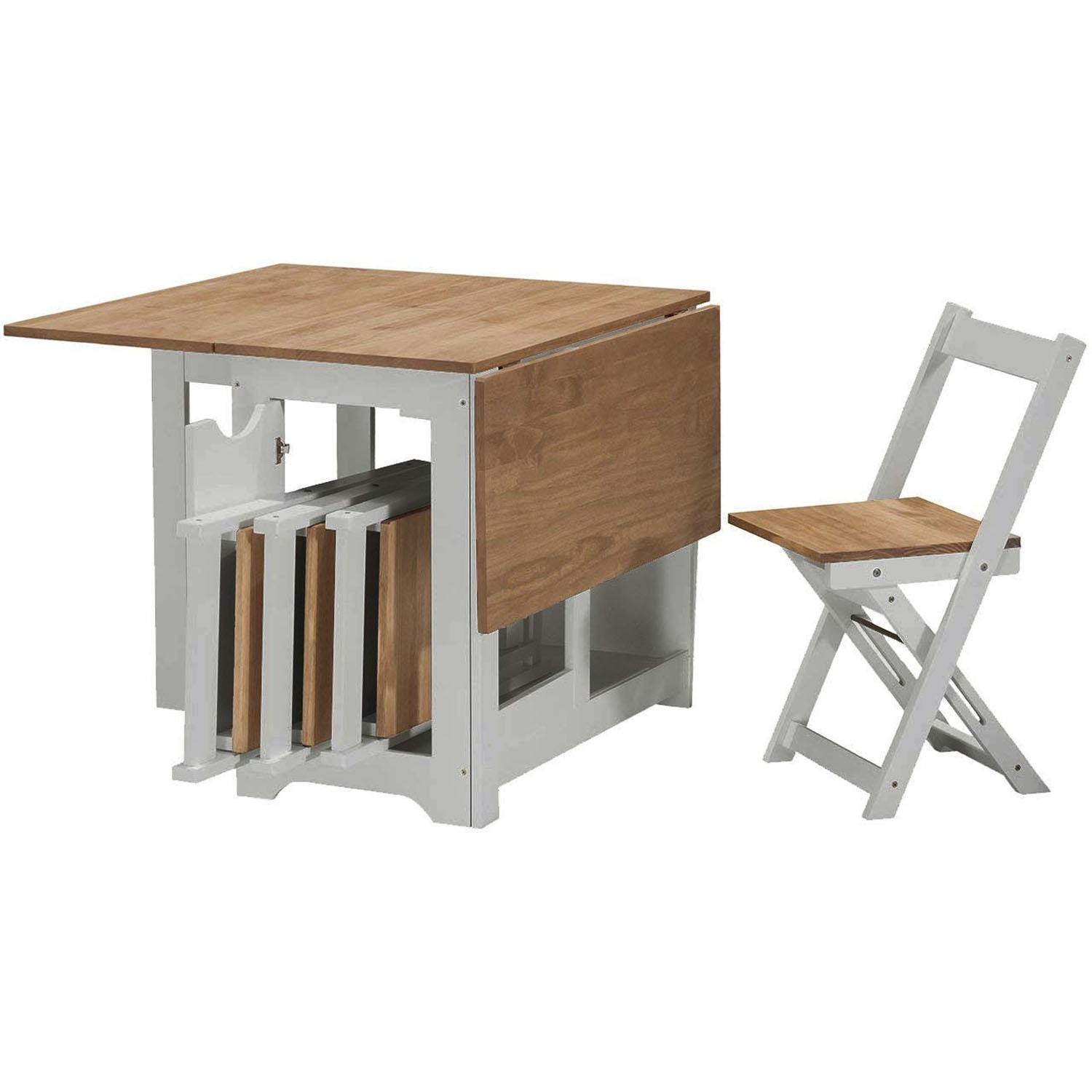 Seconique Santos Butterfly Folding Dining Set In Grey Pine With