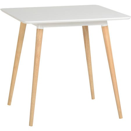 Seconique Julian Dining Table in White and Natural