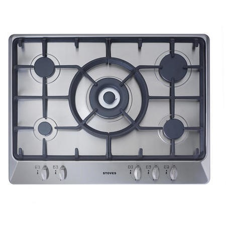 Stoves SGH700C 70cm 5 Zone Gas Hob in Stainless steel