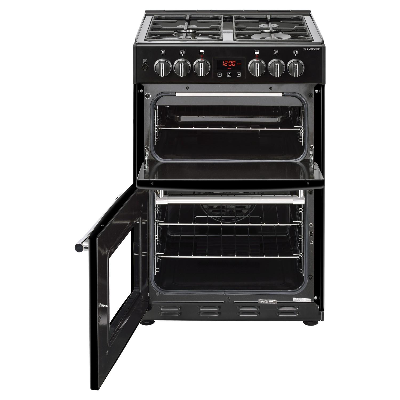 Belling Farmhouse 60df 60cm Double Oven Dual Fuel Mini Range Cooker Black Buyitdirect Ie