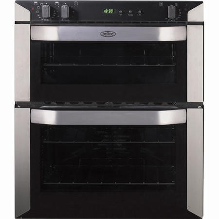 Belling BI70FP Built-under Electric Double Oven - Stainless Steel