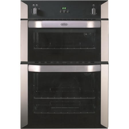 Belling BI90G Built-in Gas Double Oven in Stainless steel