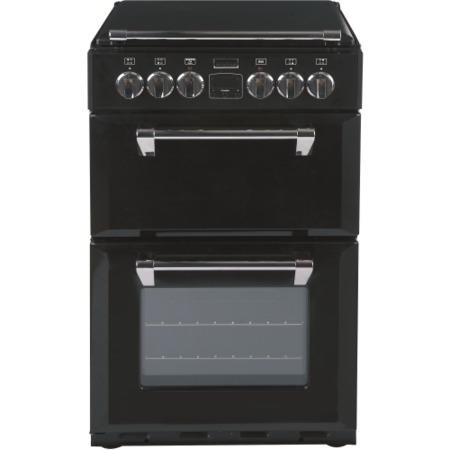 Stoves Richmond 550E 55cm Double Oven Electric Cooker with Ceramic Hob and Lid - Black