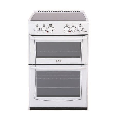 Belling Enfield E552 55cm Double Oven Electric Cooker with Ceramic Hob - White