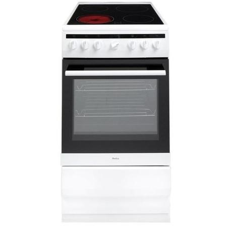 Amica 508CE2MSW 50cm Single Fan Oven Electric Cooker with Ceramic Hob - White