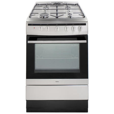 Amica 608GG5MSXX 60cm Single Oven Gas Cooker - Stainless Steel