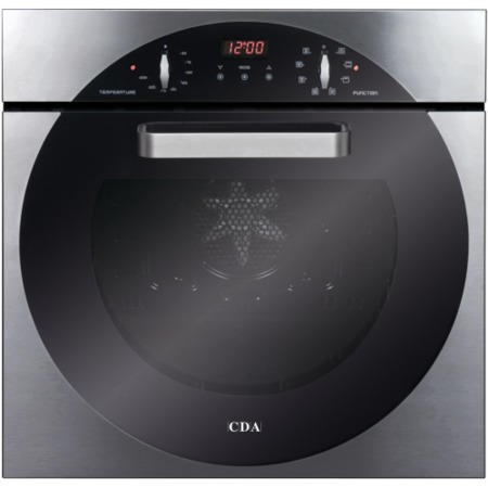 CDA 6Q5SS 8 Function Electric Built In Single Oven in Stainless steel