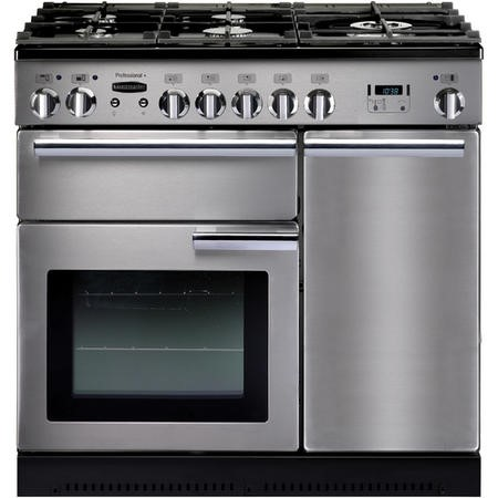 Rangemaster 84340 Professional Plus 90cm Dual Fuel Range Cooker - Stainless Steel