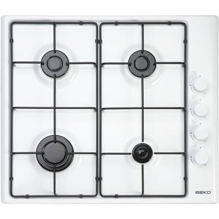 Beko HIZG64120SW 60cm Wide 4 Burner Gas Hob - White