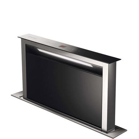 Smeg KDD60VXE-2 60cm Stainless Steel and Black Glass Island Downdraft Hood