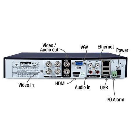 electriQ 4 Channel Analog DVR