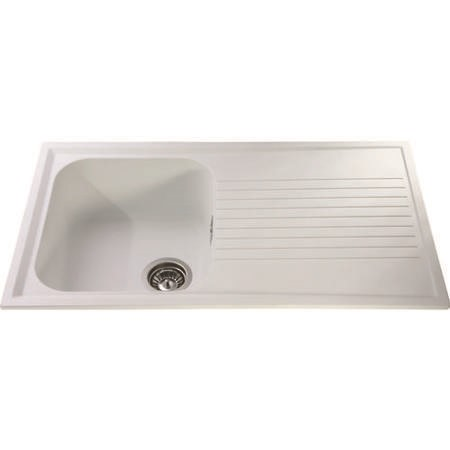 CDA AS1WH Asterite Composite White 1.0 Bowl Sink