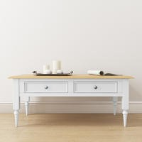 Auckland White & Pine Coffee Table with Storage