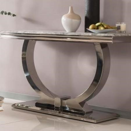 Vida Living Arianna Grey Marble Console Table