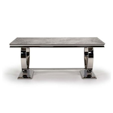 Arianna Grey Marble Rectangle Dining Table 180cm - Vida Living