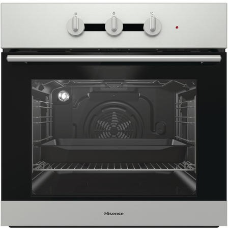 Hisense BI3111AXUK 71L Multifunction Electric Built-in Single Oven With Steam Clean - Stainless Steel