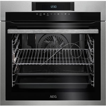 AEG BPE742320M SenseCook Pyrolytic Oven With ProSight Plus Touch Controls Stainless Steel
