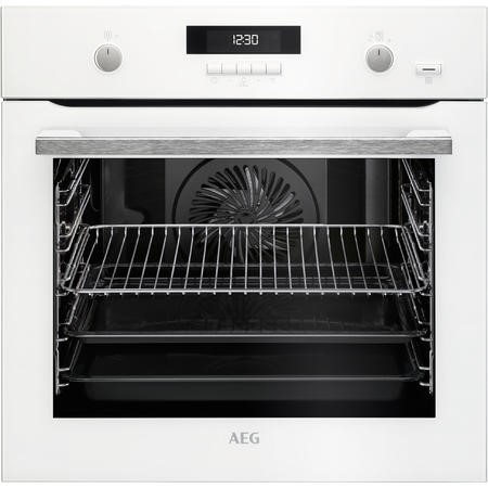 AEG BPS551020W SteamBake Pyrolytic Multifunction Oven White