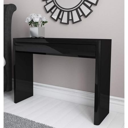 Lexi Black High Gloss Console Table Buy It Direct
