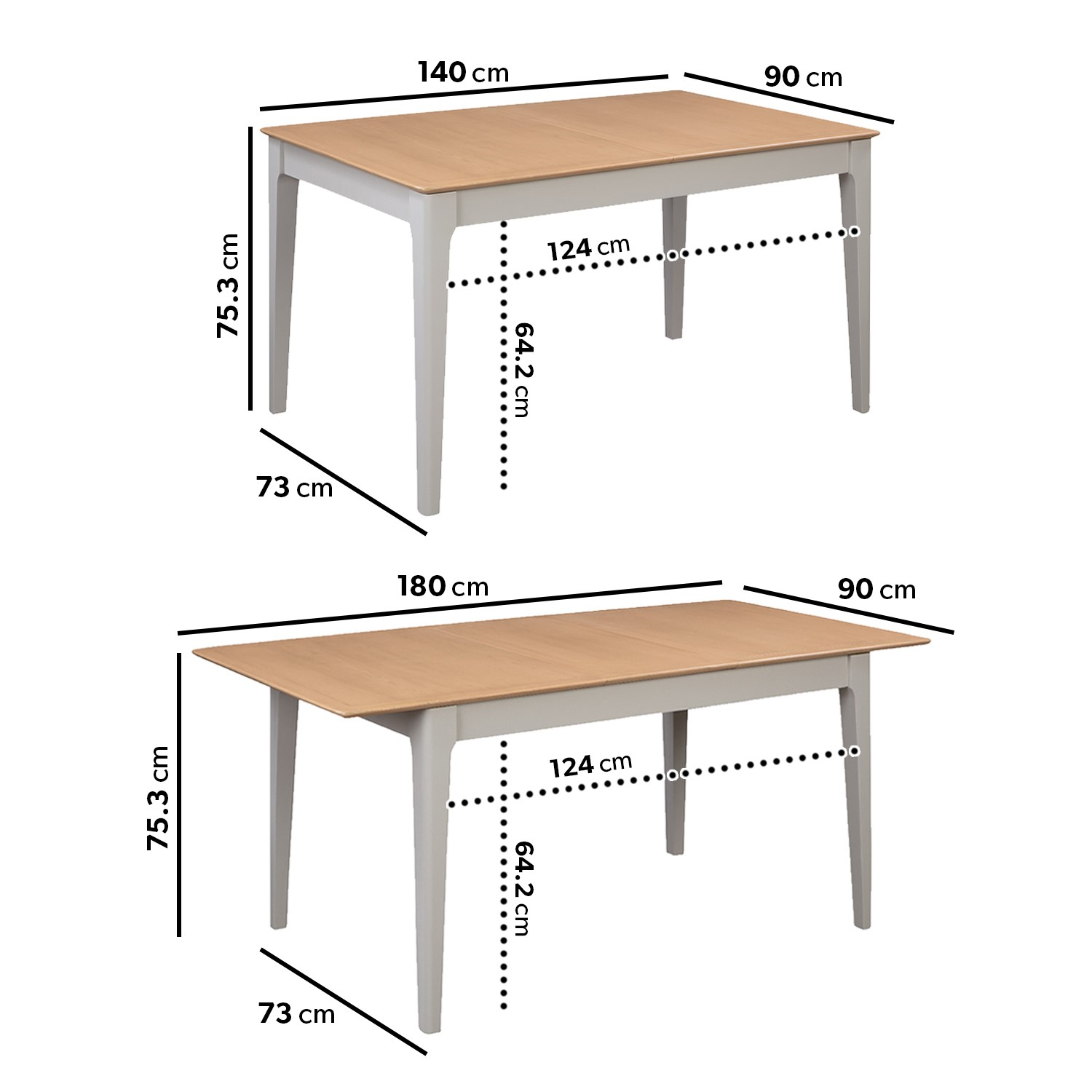 Extendable Dining Table 6 Chairs In Fabric Solid Oak Adeline Buyitdirect Ie