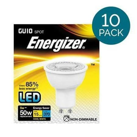 10 Pack - Energizer LED GU10 Cool White Light Bulb