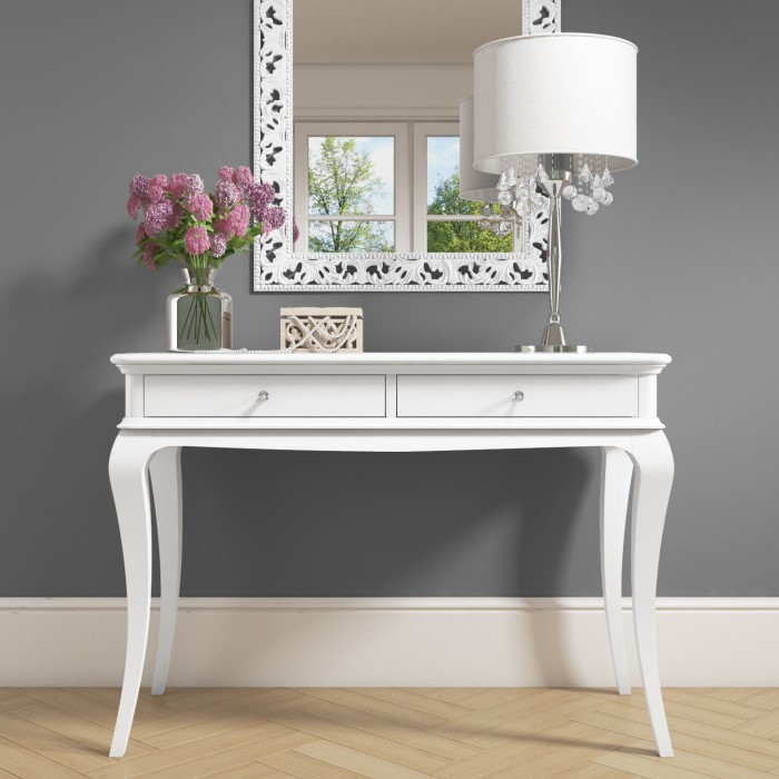 Tremendous Florentine White Console Table With Crystal Handles Download Free Architecture Designs Scobabritishbridgeorg