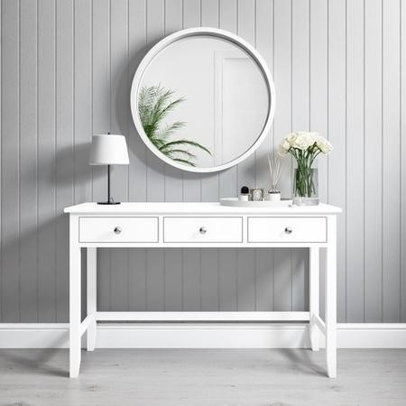 Wooden White Console Table with Drawers - Harper