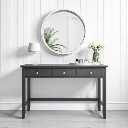 Superb Harper Grey Solid Wood Console Table Download Free Architecture Designs Scobabritishbridgeorg