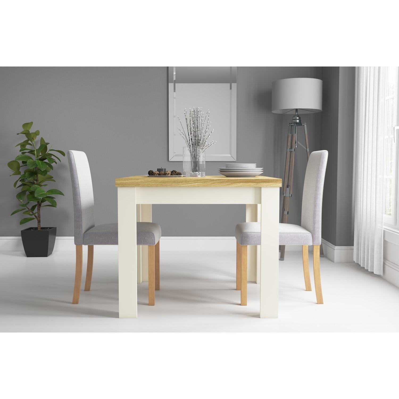 New Town Farmhouse Flip Top Cream Oak Dining Table Seats 4 Buyitdirect Ie