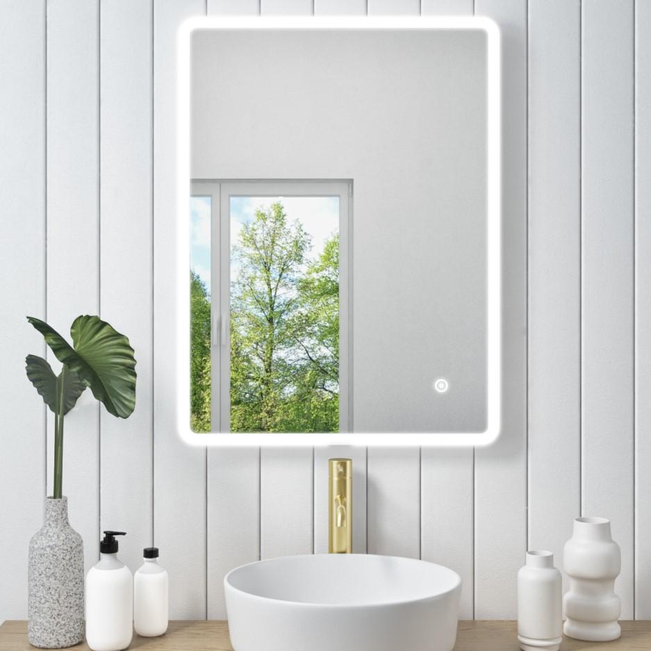 600 x 800mm Illuminated LED Bathroom Mirror - Ariel ...