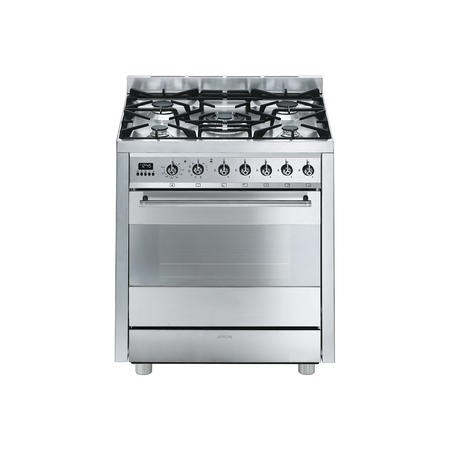 Smeg C7GPX8 Symphony 70cm Pyrolytic Dual Fuel Range Cooker Stainless Steel