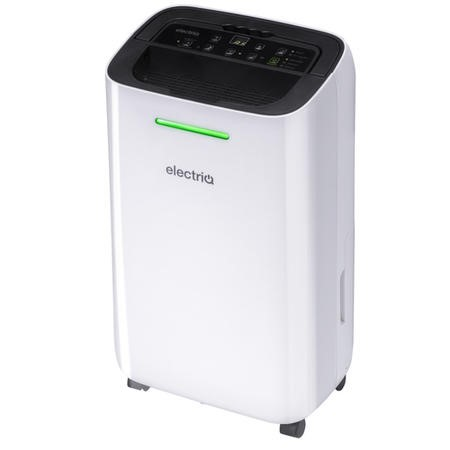 electriQ 12 Litre Dehumidifier for 3 bed house with Digital Humidistat and Air Purifier