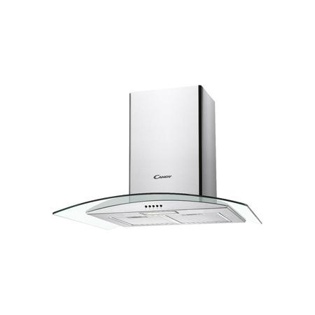 Candy CGM70NX 70cm Cooker Hood With Curved Glass Canopy - Stainless Steel