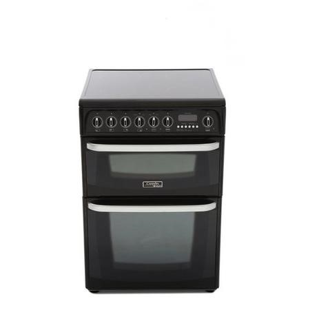 Hotpoint CH60EKK Kendal Double Oven 60cm Electric Cooker with Ceramic Hob - Black
