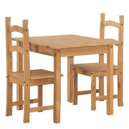 Corona Solid Pine Square Dining Table