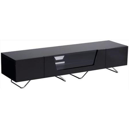"Alphason CRO2-1600CB-BLK Chromium 2 TV Cabinet for up to 70"" TVs - Black"