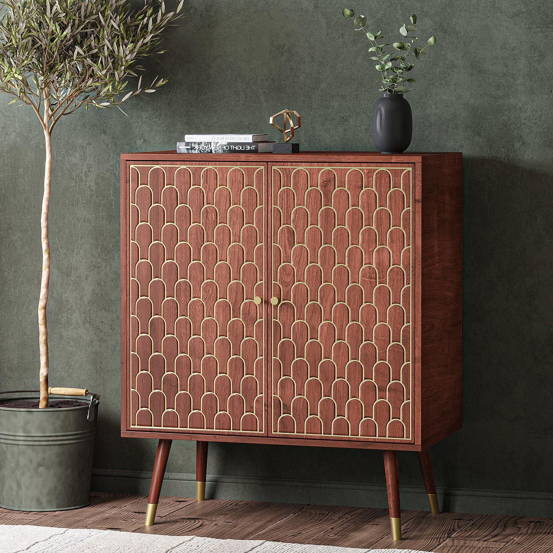 Wooden Sideboard 2 Doors 3 Drawers 2 Storage Compartments Living Room Bedroom