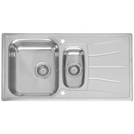Reginox DIPLOMAT15-ECO-S 1.5 Bowl Reversible Inset Stainless Steel Sink