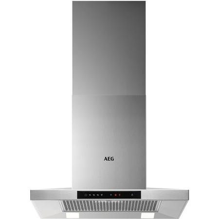 AEG DKB5660HM 60cm Stainless Steel Box Wall Chimney Hood - Plus Touch on Glass - LED lamps