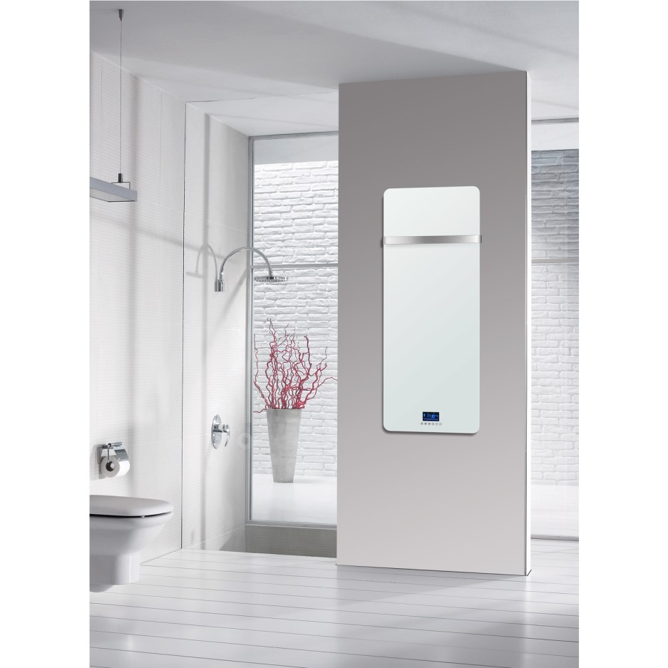GRADE A1 - Low Energy 850w Designer Glass Infrared Wall ...