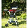 Red Compact Outdoor Electric BBQ.