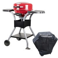 Outdoor Electric Compact BBQ - Red