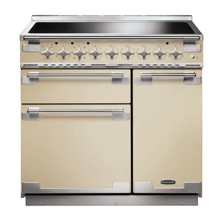 Rangemaster ELS90EICR 107900 Elise 90cm Electric Range Cooker With Induction Hob Cream