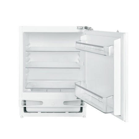 electriQ 60cm Wide 133L Integrated Under Counter Larder Fridge - White
